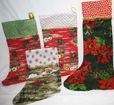 Christmas Holiday stockings gift wrap